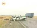 «Девятка» развалилась прямо на дороге. Два человека погибли.